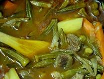 秋葵炖煮的食物 图库摄影