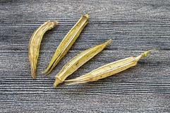 秋葵种子,秋葵产物种子,播种的秋葵种子, 库存照片