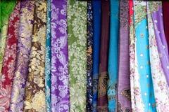 2种五颜六色的织品 图库摄影