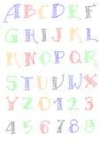 26种字体设计 免版税库存图片