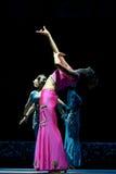 种族中国戴的舞蹈 免版税图库摄影