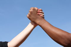 种族主义不说 库存图片