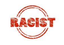 种族主义者的红色不加考虑表赞同的人 免版税图库摄影