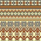种族五颜六色的无缝的样式 Boho样式 库存例证