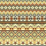 种族五颜六色的无缝的样式 Boho样式 向量例证