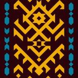 种族传统美国风格 模式无缝的纺织品 皇族释放例证