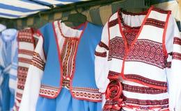 种族全国刺绣衣裳 免版税库存照片