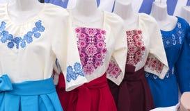 种族全国刺绣衣裳 免版税图库摄影