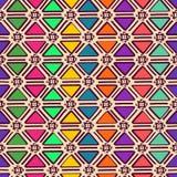 种族几何无缝的样式 免版税图库摄影