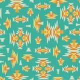 种族几何kilim被编织的无缝的传染媒介背景 库存例证