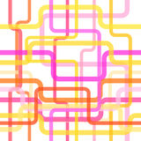 种族分界线无缝的样式,概念设计的被缠结的条纹背景射出 向量 图库摄影