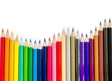 种族分界线铅笔 免版税库存照片