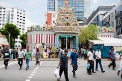 种族区一点印度在新加坡 库存图片
