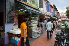 种族区一点印度在新加坡 免版税库存图片