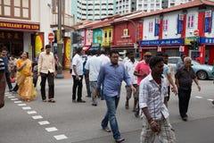 种族区一点印度在新加坡 免版税库存照片