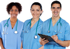 种族医疗多小组 免版税库存图片