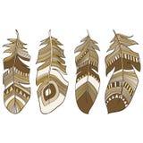 种族印地安人用羽毛装饰全身羽毛 库存图片