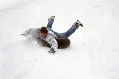 种族在冬天 图库摄影
