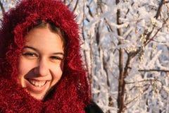 种族女孩微笑 免版税库存照片