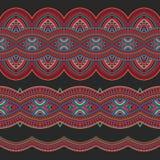 种族无缝的条纹 免版税图库摄影