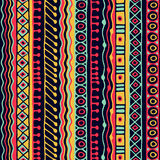 种族无缝的样式 Boho样式 种族墙纸 部族艺术印刷品 老摘要毗邻背景纹理 库存照片