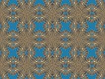 种族模式 抽象万花筒织品设计 免版税库存图片