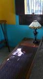 种族泰国房子内部装饰 库存照片
