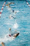 种族游泳 免版税图库摄影