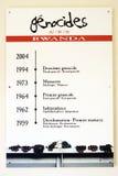 种族灭绝卢旺达 免版税库存图片