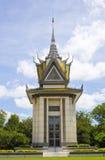 种族灭绝纪念品-金边,柬埔寨 免版税库存图片