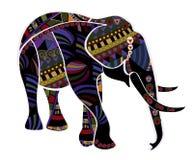 种族的大象 免版税库存图片
