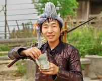 种族苗族, Hmong汉语。贵州,中国。 库存照片