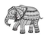 种族被装饰的大象 免版税图库摄影