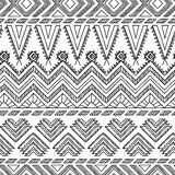 种族装饰纺织品无缝的样式 图库摄影