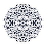 种族装饰花卉样式 手拉的坛场 东方传统背景 库存例证