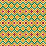 种族部族之字形和菱形无缝的样式 库存图片