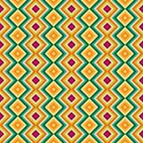 种族部族之字形和菱形无缝的样式 免版税库存图片
