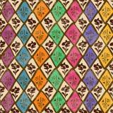 种族部族几何无缝的样式 免版税库存照片