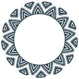 种族部族样式传染媒介手拉的乱画框架 免版税库存图片