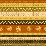 种族非洲无缝的背景 免版税库存照片