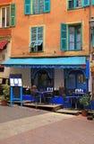 种族餐馆在尼斯老的镇,法国 图库摄影