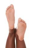 种族黑人非裔美国人的妇女的脚 免版税图库摄影