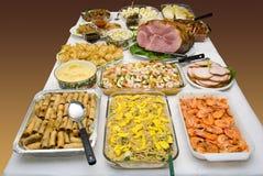 种族宴餐食物 库存图片