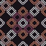 种族boho无缝的样式 传统的装饰品 几何的背景 部族的模式 民间主题 图库摄影