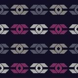 种族boho无缝的样式 传统的装饰品 几何的背景 部族的模式 民间主题 免版税库存照片