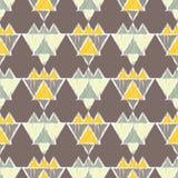 种族boho无缝的样式 传统的装饰品 部族的模式 民间主题 库存例证