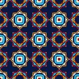 种族boho无缝的样式 传统的装饰品 部族的模式 民间主题 向量例证