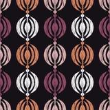 种族boho无缝的样式 刺绣 传统的装饰品 几何的背景 部族的模式 民间主题 向量例证