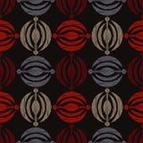 种族boho无缝的样式 刺绣 传统的装饰品 几何的背景 部族的模式 民间主题 库存例证