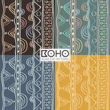 种族boho无缝的样式 葡萄酒装饰品 传染媒介illustra 图库摄影
